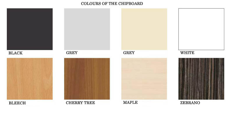 COLOUR OF THE CHIPBOARD